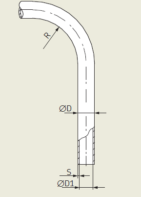 Technical drawing pipe