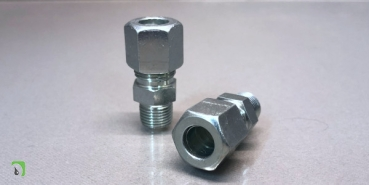 Straight screw-in fittings with Whitworth pipe thread for Ø8